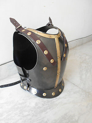 BREAST PLATE MEDIEVAL ARMOUR REPLICA COSTUME LARP BLACK ANTIQUE FINISH
