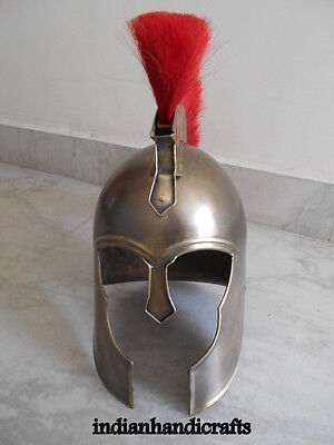 Collectibles AchillesTroy Armour Helmet w/Red Plume Medival Knight Greek Helmet
