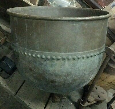 Large Antique Commercial Candy Pot Burkhard Steam Boiling Kettle VERY RARE!!!