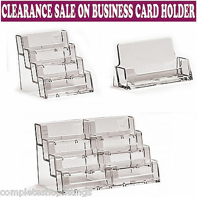 New Landscape Acrylic Business Card Holders Desktop Dispensers Display Stands