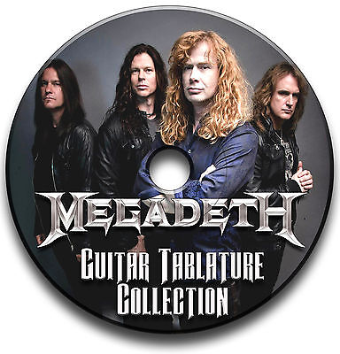 155 x MEGADETH ROCK THRASH METAL GUITAR TABS TABLATURE SONG BOOK SOFTWARE CD