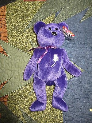 "Ty Beanie Babies Princess Diana RARE Misspelled Hang Tag Error -""Gasport"""