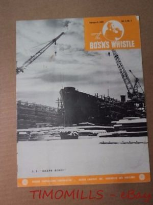 1943 BO'S'N'S WHISTLE Oregon Shipbuilding Kaiser Shipyard Magazine Liberty Ships