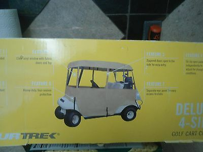 DELUXE FOUR SIDED GOLF CART ENCLOSURE for TOURTREK TWO PERSON 2 Man Cover