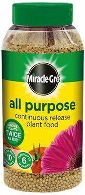 Miracle Gro Continuous Release All Purpose Plant Food Fertiliser 1kg Shaker Jar