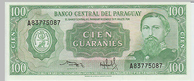 1952 100 Guaranies Paraguay Banknote - UNC - Pick 198 A83775087