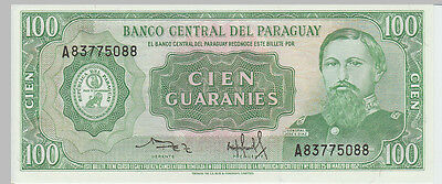 1952 100 Guaranies Paraguay Banknote - UNC - Pick 198 A83775088