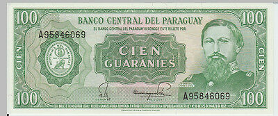 1952 100 Guaranies Paraguay Banknote - UNC - Pick 198 A95746069