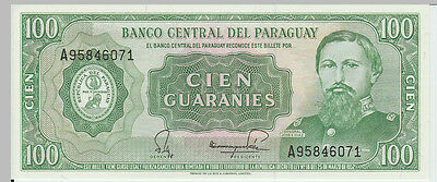 1952 100 Guaranies Paraguay Banknote - UNC - Pick 198 A95746071