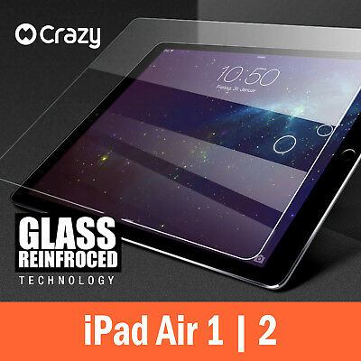 CRAZY iPad 5 6 Air 1 2 Pro 9.7 Tempered Glass Screen Protector Film For Apple