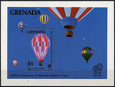 Grenada 1983 SG#MS1266 Manned Flight MNH M/S #A87306
