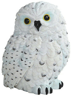 SNOW OWL    Small White Owl    statue figure   H5.75""