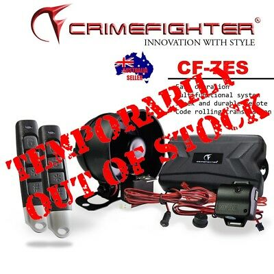 New CRIMEFIGHTER CF-7 Remote Keyless Entry One Way Car Alarm System Remote Start