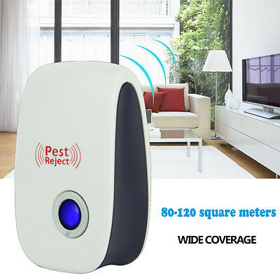 Ultrasonic Electronic Anti Pest Bug Insect Mosquito Dispeller Repellent Repeller