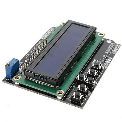 LCD 1602 16x2 Keypad Shield Expansion Board Blue Backlight for Arduino Robot UNO