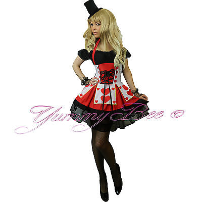 Tiara B85 Queen of Hearts Alice In Wonderland Fancy Dress Costume Outfit