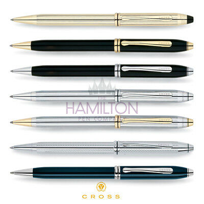 CROSS TOWNSEND BALLPOINT PEN - available in 7 classic, timeless finishes