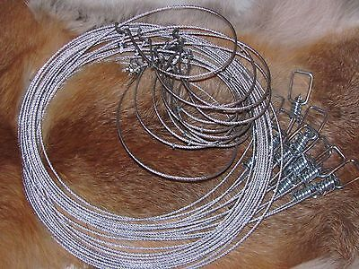 """3   60"""" 3/32  Micro Lock Raccoon,fox,coyote,bobcat  Snares  Trapping"""