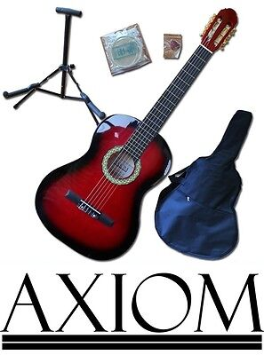 Axiom Children's Guitar Pack - 3/4 Size Starter Pack - Red - Childrens Guitar