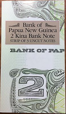 1975 bank of Papua New Guinea two kina strip of 3