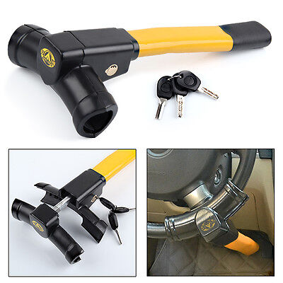 Universal Heavy Duty Car Wheel Steering Lock Anti Theft Security Van New