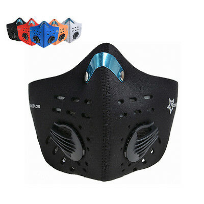 RockBros Bicycle Cycling Face Mask Cover Anti-dust Haze Mouth Muffle with Filter
