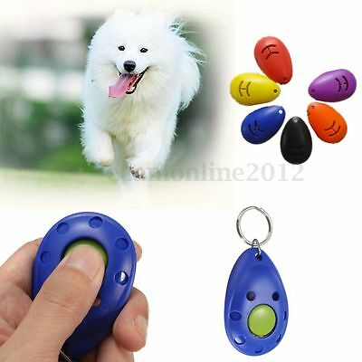 New Dog Pet Puppy Cat Training Clicker Click Button Trainer Obedience Aid Wrist