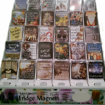 Sentiment Fridge Magnets, Family, friends, Humour, Wisdom, Animals  H & H S3