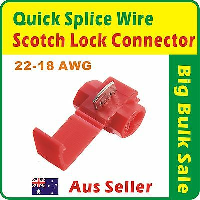 100pcs Scotch Lock Quick Splice 22-18 AWG Wire Connector