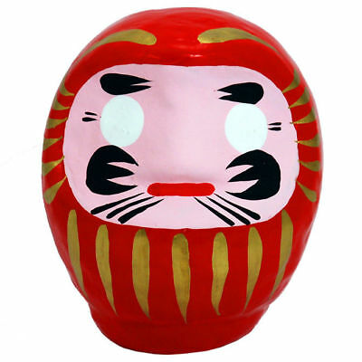 "Japanese 3.5""H Classical Red Daruma Doll for Luck & Good Fortune, Made in Japan"