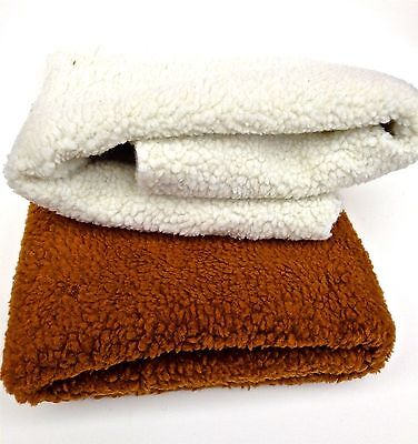 Fleecy Faux Sheepskin Washable Pet Dog Cat Bed Carrier Car Blanket Mat 1m x 1m