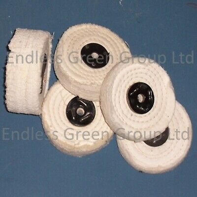 Stitched Cotton Buffing Wheel - Narrow ONE SECTION WIDE - Diameter Choice