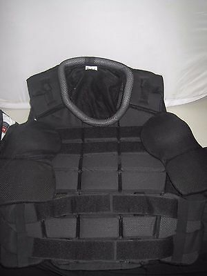 Galls Body Armor Police Upper Body Protection #ZUBP-GH Black Size: Large Long