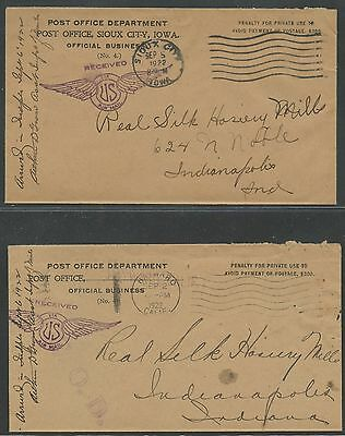 (9) Diff Nyc-Sfo Sept 1922 Airmail Test Inaugural Used 2¢ Rate Very Rare Wl8935
