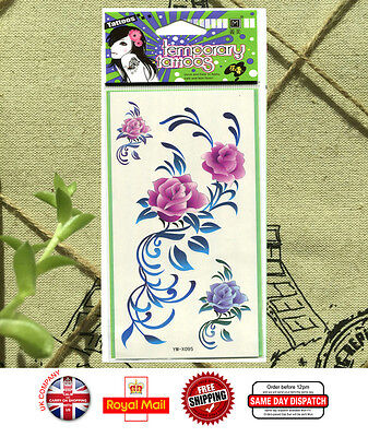 Rose Waterproof Temporary Tattoo Sticker Body Art  Removable For Women YM-X095