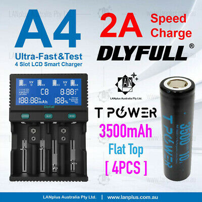 D2 Ultra-Fast 2.0A D Size Li-ion 18650 AA AAA NiMH LCD Battery Charger 26650
