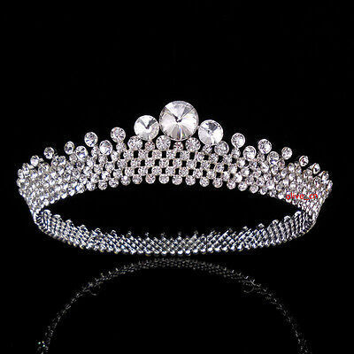 3cm High Full Crystal Luxury Wedding Bridal Party Pageant Prom Tiara Crown