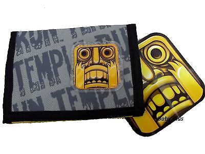 BRAND NEW OFFICIAL Temple Run Tri-Fold + Zipped Wallet