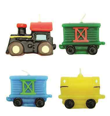 PME 4 Set TRAINS Candles Birthday Boys Party Cake Decorating