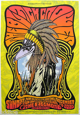 BLACK CROWES- Original 2010 Concert Poster by Alan Forbes, Fillmore F1077, crow