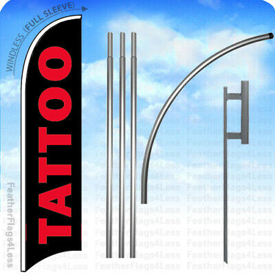 WINDLESS Swooper Feather Banner Sign Flag 15' KIT - TATTOO v2k