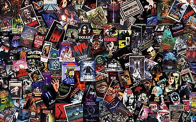 """INCREDIBLE LOT OF 1970s & 1980s ONE SHEET (1 sheet) 27x41"""" HORROR MOVIE POSTERS!"""