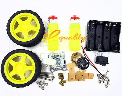 2WD Smart Robot Car Chassis Kit/Speed encoder Battery Box Arduino 2 motor 1:48