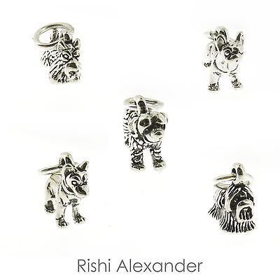 925 Sterling Silver Dog Puppy Charms Small Charms Most Breeds Made in America