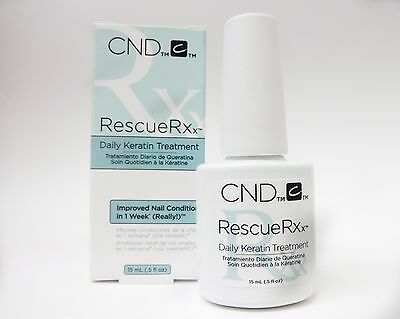 CND Creative Nail Keratin Treatment RESCUERXx Rescue Rx rescuer .5oz/15mL SALE