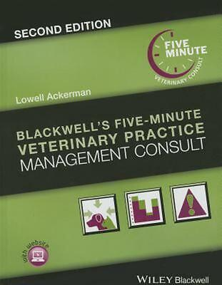 Blackwell's Five-Minute Veterinary Practice Management Consult by Ackerman (Engl