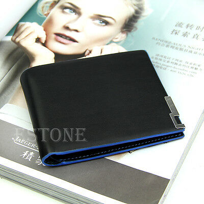 Quality Business Bifold Men Leather Wallet Card Holder Coin Money Bag Purse Hot