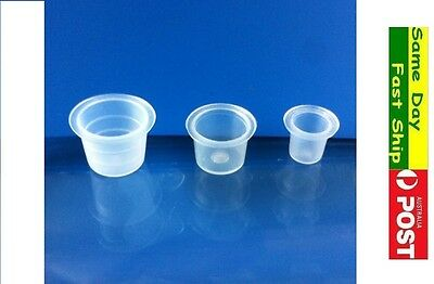 tattoo Pigment ink cup small medium large plastic cap AU local Fast Ship