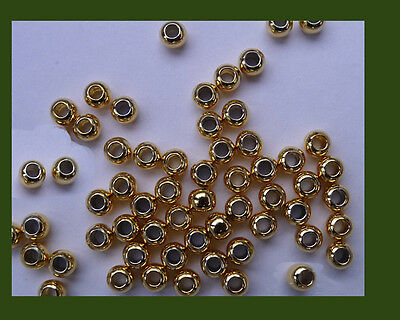5 dozens of  vermeil  round beads ( 18K gold over 925 silver) , 2.5mm x 60 units