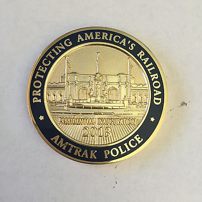 Amtrak Police 2013 Presidential Inauguration Railroad Challenge Coin New